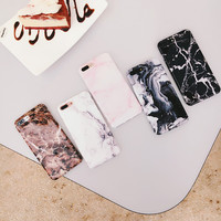 Personality smooth Crack Marble case for iphone 7 7plus soft watercolour marble phone back cover for iphone6 6s 6plus 6splus -0318