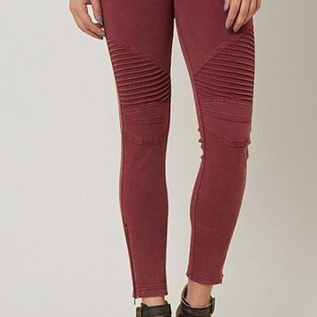 Uptown Moto Leggings - Brick
