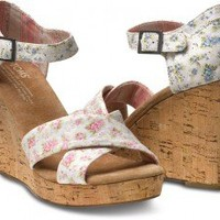 Shabby Chic Women's Strappy Wedges | TOMS.com