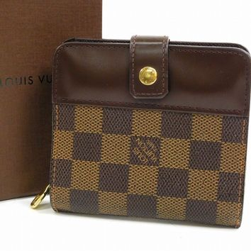 Authentic LOUIS VUITTON Compact Zip Damie Bi-fold Wallet #X16455
