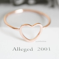 open heart rings/unique rings/round engagement rings/couple rings/antique ring/vintage style rings/love ring/wedding rings/heart rings