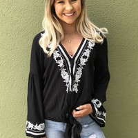 Carried Away Top-Black