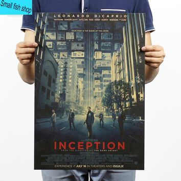 Inception Memory cube Leonardo DiCaprio Home Furnishing decoration Kraft Movie Poster Drawing core Wall stickers