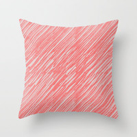 Coral Throw Pillow by Georgiana Paraschiv