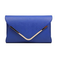 Envelope Leather Clutch from Hallomall