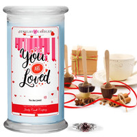 You are Loved Valentine's Day Jewelry Greeting Candles
