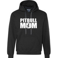 Proud Pitbull Mom - 8.5 oz. Premium Ringspun Cotton Hooded Sweatshirt