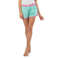 Women's Gingham Lounge Short in Seaglass by Southern Tide
