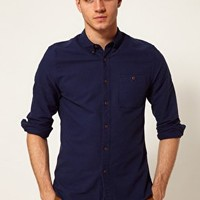 ASOS Oxford Shirt with Overdye at asos.com