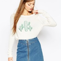 ASOS Jumper with Cactus Detail at asos.com