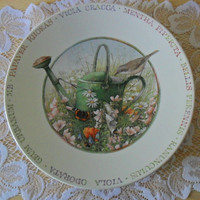 "On SALE - Marjolein Bastin Decorative Dessert Plate - ""Wildflower Meadow"" Pattern"
