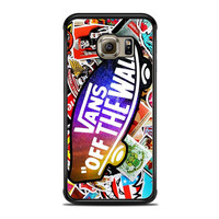 Vans Off The Wall Galaxy Logo Fashion With Sticker Sakateboard Grafiti Samsung Galaxy S6 Edge Case