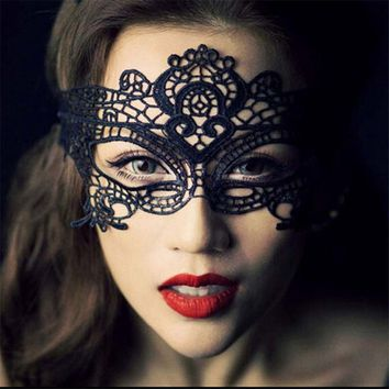 Cool 10pcs/pack Party Queen Black and White Butterfly Lace Mask Women Sexy Animal Masks Fascinating Funny Face Mask Masquerade PartyAT_93_12