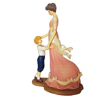Thomas Kinkade, Precious Grandson Figurine, Kinkade Figurine, Grandmother Figurine, Hamilton Collection, Thomas Kinkade Figurine, Hamilton