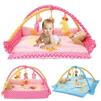 Soft Foldable Baby  PlayMats  Pink or Blue