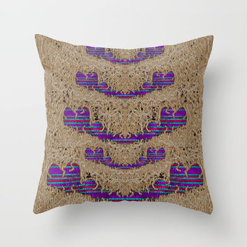 Pearl lace and smiles in peacock style Throw Pillow by Pepita Selles