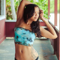Ladies Bandeau Top 100 Handmade in Hawaii Free by primalartistry