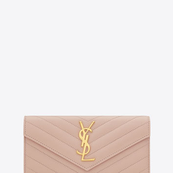 ysl belle du jour patent-leather clutch - Best Saint Laurent Wallet Products on Wanelo