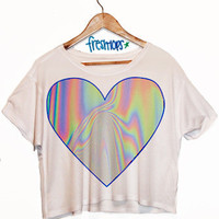 Hologram Love Crop Shirt