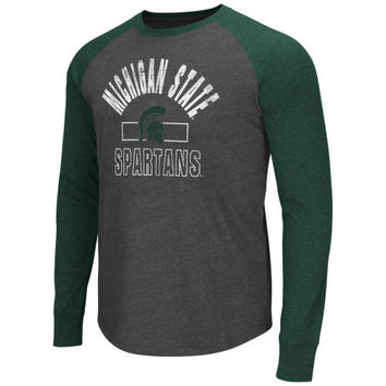 Michigan State Spartans Hammer Long Sleeve T-Shirt – Charcoal