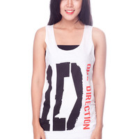 One Direction Shirt Pop Boy Band 1D Shirts Women Tank Top White Shirts Tunic Top Vest Sleeveless Women T-Shirt Size S M