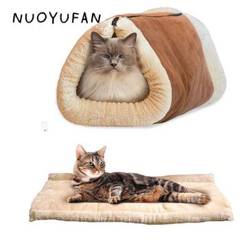 NUOYUFAN 2 In 1 Pet Mats Portable Breathable Cat Dog House Beds Washable Warm Sleeping Bed Kennel 90*57cm Pet Products