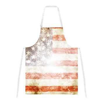 DCCKU3R 4th of July American Flag Star Spangled Banner All Over Apron