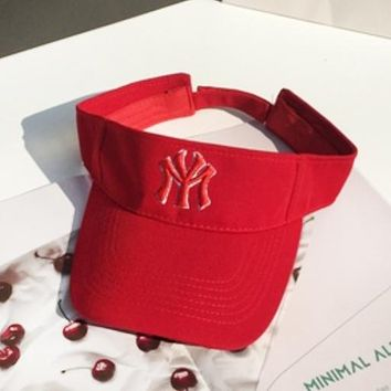 NY New fashion embroidery letter couple cap hat Red