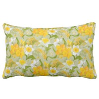 spectacular spring flowers lumbar pillow