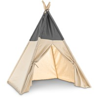 Harmony Grey and Khaki Canvas Pet Teepee | Petco