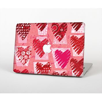 The Etched Heart Layer Pattern Skin for the Apple MacBook Pro Retina 13""