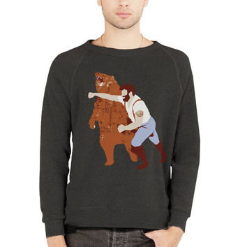 Man Punching Bear Sweater