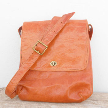 Leather Tablet Bag, iPad Sleeve Case, Messenger Leather Crossbody Caramel Natural Bag for Women & Men
