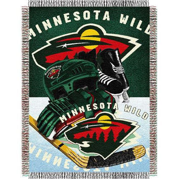 Minnesota Wild NHL Woven Tapestry Throw Blanket (48x60)