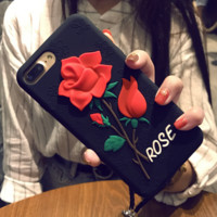 Fashion Roses iPhone Phone Cover Case For iphone 8 8plus iPhone6 6s 6plus 6s-plus iPhone 7 7plus