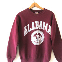 Vintage 1990s ALABAMA University of Alabama JANSPORT Crimson Tide Roll Tide Sweatshirt Sz S