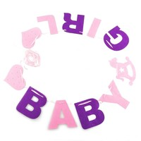 BABY GIRL Garland Bunting Banner Christening Baby Shower Decoration Birthday Party Favors