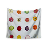 """Theresa Giolzetti """"Fruit"""" Multicolor Food Wall Tapestry"""