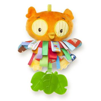 Baby Toy Rattle Teether Multifunction Educational Early Development Teddy Owl Taggies Plush Stuffed Toys