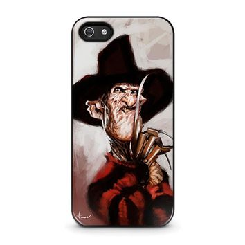 freddy krueger 3 iphone 5 5s se case cover  number 1