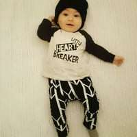 2Pcs/set  children clothing Cute Toddler Baby Boy Girls Funny Tops T-shirt+Pants Leggings Outfits Set Casual