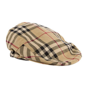 ca3fbfcec5c Burberry London Nova Check Newsboy Hat from The RealReal