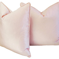 Champagne Pink Velvet Pillows, Pair | One Kings Lane