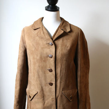 Black Friday Cyber Monday Vintage 1970s Lambskin Coat - Coat with removable fleece liner - Womens US S/M Petite