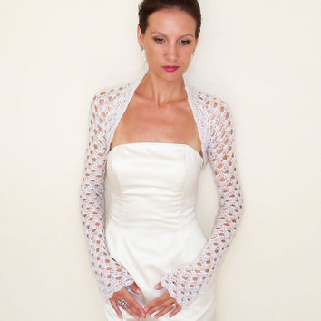 Wedding SHRUG BRIDAL BOLERO Jacket Bridesmaids Shrugs Bolero white Ivory Black
