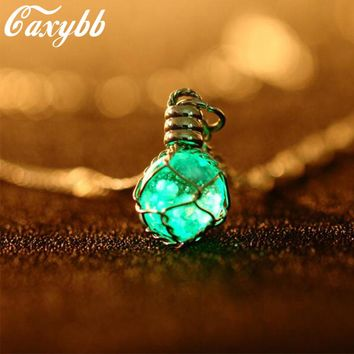 Luminous Crystal Ball Glow In The Dark Necklace