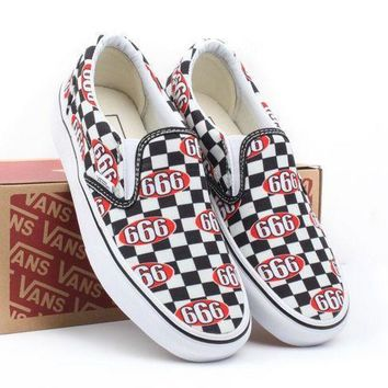 VANS X Supreme Slip-On Old Skool Flats Shoes Sneakers Sport Shoes