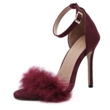 Feather Strap Heel (More Colors)