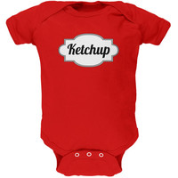 Halloween Ketchup Costume Red Soft Baby One Piece