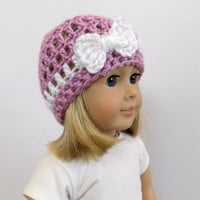 Doll Hat with Bow, 18 Inch Doll Clothes, Doll Accessories